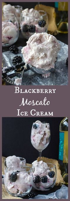 Blackberry Moscato Ice Ingrediens and no ice cream maker! - Ice Cream Maker - Ideas of Ice Cream Maker - Blackberry Moscato Ice Ingrediens and no ice cream maker! Ice Cream Treats, Ice Cream Desserts, Frozen Desserts, Frozen Treats, Wine Ice Cream, Ice Cream Party, Blackberry Ice Cream, Rasberry Sorbet, Coconut Sorbet