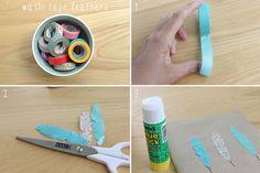vanilla craft blog: DIY // Washi Tape Decorated Notebooks