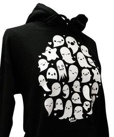 GHOST Hoodie  Kawaii Ghosts Unisex Sweatshirt  by emandsprout, $28.00