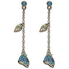 Noisette Blue Pierced Earrings : graceful and delicate like butterflies #Swarovski