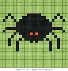 Spider Mini Cross Stitch, Cross Stitch Needles, Beaded Cross Stitch, Crochet Cross, Cross Stitch Charts, Cross Stitch Embroidery, Cross Stitch Patterns, Bead Patterns, Pixel Art Halloween