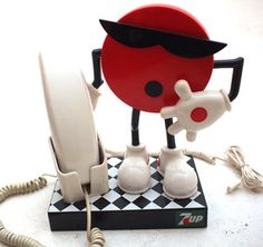 Retro Novelty Seven 7up 1980s Telephone
