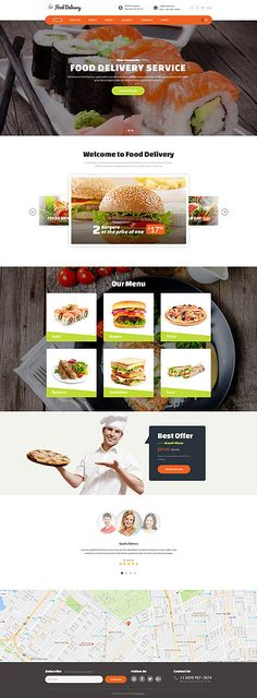 Template 62172 - Food Ordering  Responsive Website Template