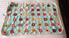 Edging time for my happiness crochet  #crochet #crocheting #handmade #crochetofinstagram #crochetblanket #sulam #selimut #jualrajut #rajut #rajutan #rajutindonesia #crochetaddict #grannysquare  #knitpicks by regieoww_crochet