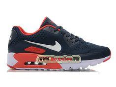 Nike Air Max 90 EM Chaussures Nike Sportswear Pas Cher Pour Femme Blanc / bleu 599405-ID9