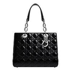 Black Patent Leather Dior Soft Bag