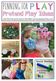 Tutus and Tea Parties: Pretend Play Ideas | Pinning for Play Link Party for Children's Activities