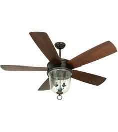 Craftmade Fredericksburg 3 Light 60-in Outdoor Ceiling Fan in Oiled Bronze Gilded FB60OBG5