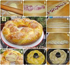 Treccia di pan brioche salata ripiena  Blog Profumi Sapori & Fantasia
