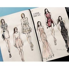 Fab sketches of J. Mendel by Carla Han on fashionary