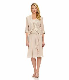 """Le Bos Pebble Georgette 3Piece Skirt Set #Dillards """"perfect for the grandmother--fits my style ;)"""