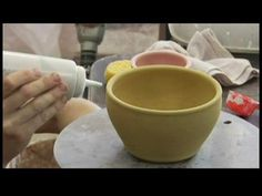 How to Glaze Pottery : Decorating Clay Pottery: Dripping - YouTube