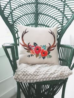 The Floral Buck Pillow | Altar'd State