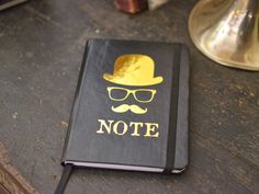 Notebook ANONYMOUS English man note   by GothChicAccessories, $12.00