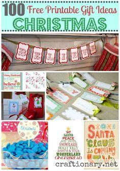 100 Christmas free printables #Christmas