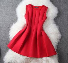 Dress in Red from FashionLily&Co.......Beautiful!