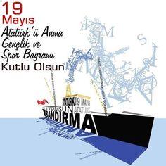 19 Mayıs Atatürk'ü Anma Gençlik ve Spor Bayramı kutlu olsun Child Day, Painting Lessons, Galaxy Wallpaper, Art School, Like4like, Banner, Graphic Design, Movie Posters, Tumblr