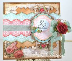 Grow with Love card designed by Eva Dobilas using Spring Rose Medallions, Classic Lace Edges Two
