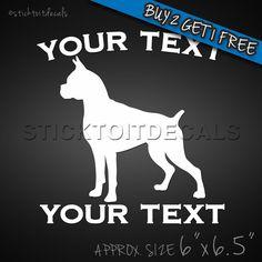 Personalized Boxer Decal - Custom Vinyl Graphic/Bumper Sticker Car Window Dog #UnbrandedGeneric