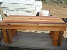 This bench was finished in #minwax pecan polyshade so the great colors would show through.  #i did that sweepstakes