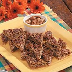 Honey Pecan Triangles @keyingredient #honey