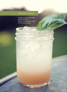 Grapefruit tequila cocktail