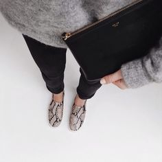 Black Jeans - Snake print - Perfect clutch