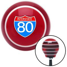 Route 80 Red Stripe Shift Knob with M16 x 15 Insert