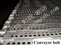 Metal ribbed conveyor belt