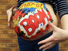 Painted by Cassandra Stephens at Pregnancy Art . - Painted by Cassandra Stephens at Pregnancy Art Paint the baby - Twin Belly, Belly Bump, Baby Belly, Pregnancy Tattoo, Pregnancy Art, Pregnancy Photos, Baby Boy Photos, Newborn Pictures, Bump Painting