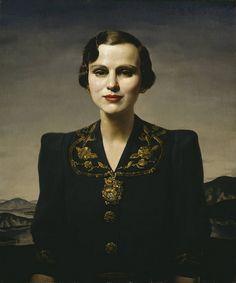 Portrait of Margaret, Duchess of Argyll circa 1931 by Gerald Leslie Brockhurst 1890-1978