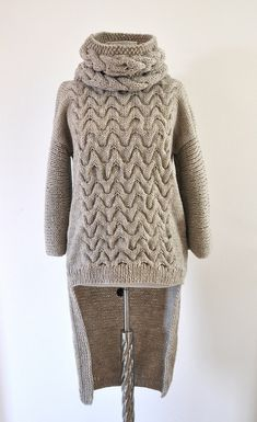 Women's Sweater Cardigan Coat Tunic Chunky Wrap by reflectionsbyds