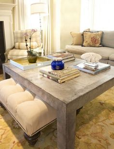 Coffee table with ottoman under