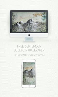 Free September 2017 Calendar – Printable – iPad – iPhone – Desktop - We Lived Happily Ever After