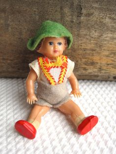 Vintage Bavarian Boy in Lederhosen Celluloid by corrnucopia,