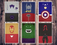 The Avengers Movie Posters // All Six Avengers // Movie Poster Prints // Marvel Comics // Minimalist. $59.00, via Etsy.