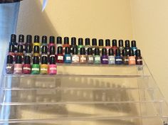 I keep a mini bottle of every color I have made. My little sparkly soldiers!