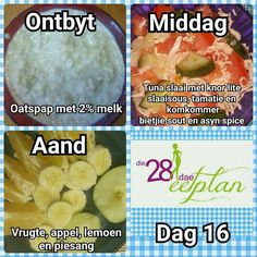 Day 16 Diet Recipes, Snack Recipes, Healthy Recipes, Recipies, 28 Dae Dieet, Dieet Plan, 28 Day Challenge, Dash Diet, Healthy Options