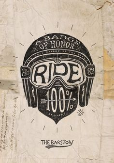 Ride 100% - The Barstow by BMD , via Behance