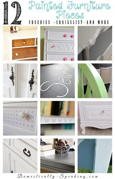 12 Painted Furniture Pieces ~ Finding free furniture, Craigslist finds and more