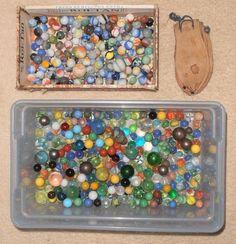 Huge Vintage Marble Estate Collection Lot Akro Agate Peltier Pouch Old | eBay