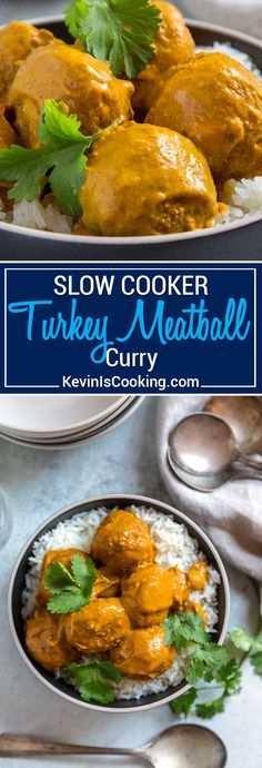 This Pan Roasted Turkey Meatball Curry is the perfect mid-week dinner! Tender, pan roasted turkey meatballs made with yogurt and garam masala get covered in a delicious blended curry of tomatoes, onions, ginger and warm spices. Great as an appetizer or served over rice. via @keviniscooking