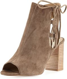 Neiman Marcus Bryana Lace-Up City Sandal, Brown