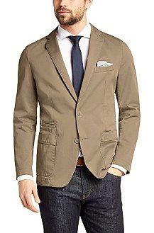 Regular-fit jacket 'Menvin-W' in cotton, Beige
