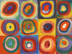 Vassily Kandinsky, 1913 - Color Study, Squares with Concentric Circles - Wassily Kandinsky - Wikipedia, the free encyclopedia