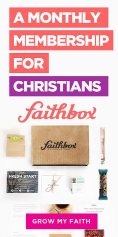 A Monthly Membership For Christians : Faithbox