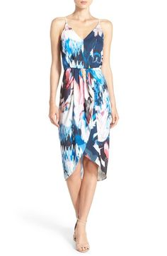 Chelsea28 Print Faux Wrap Dress available at #Nordstrom