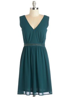 My, How Marvelous Dress. Are you privy to the wowing ways of this chiffon party dress? #green #modcloth
