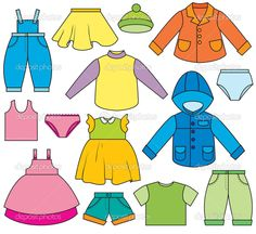 Clothes Illustrations and Clipart. Clothes royalty free illustrations, and drawings available to search from thousands of stock vector EPS clip art graphic designers. 1st Grade Worksheets, Worksheets For Kids, Activities For Kids, Drawing For Kids, Art For Kids, Crafts For Kids, Clothes Clips, Petite Section, Free Illustrations