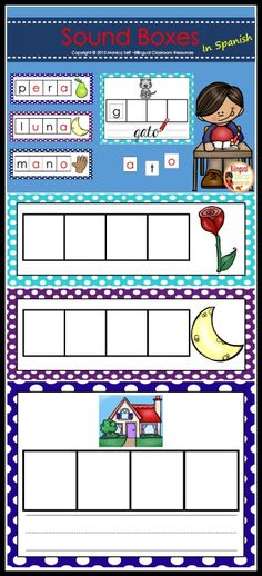 Phonemic Awareness Mats are a great phoneme segmentation activity. Phoneme segmentation is a technique for building phonemic awareness in which students says the word, segments it into phonemes and writes a letter in each box.    These activities make a great literacy center for students to complete independently, or in small groups.